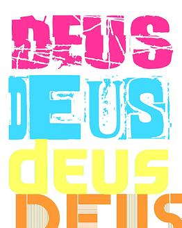 estampa camiseta evangélica DEUS DEUS DEUS DEUS