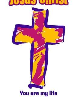 estampa camiseta evangélica Jesus Christ you are my life