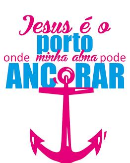 estampa camiseta evangélica Jesus é o porto onde minha alma pode ancorar