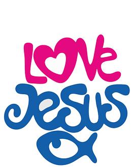 estampa camiseta evangélica Love Jesus