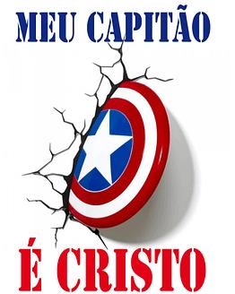 estampa camiseta evangélica Meu capitão é Cristo