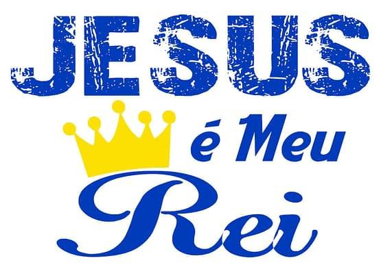 estampa camiseta evangélica Jesus meu rei