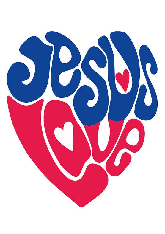 estampa camiseta evangélica Jesus love