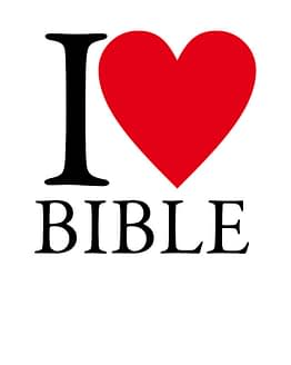 estampa camiseta evangélica I love Bible