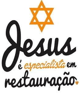estampa camiseta evangélica Jesus é especialista em restauração