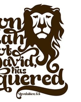 estampa camiseta evangélica The Lion of Judah the root of David has conquered