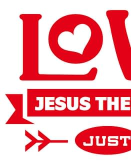 estampa camiseta evangélica Love Jesus the best