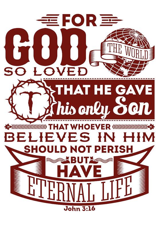 estampa camiseta evangélica For God so loved the world