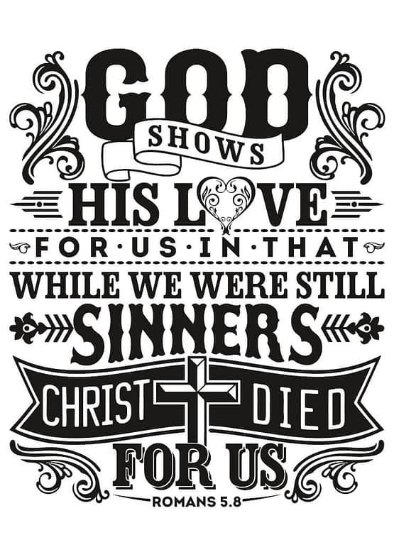 estampa camiseta evangélica God shows his love