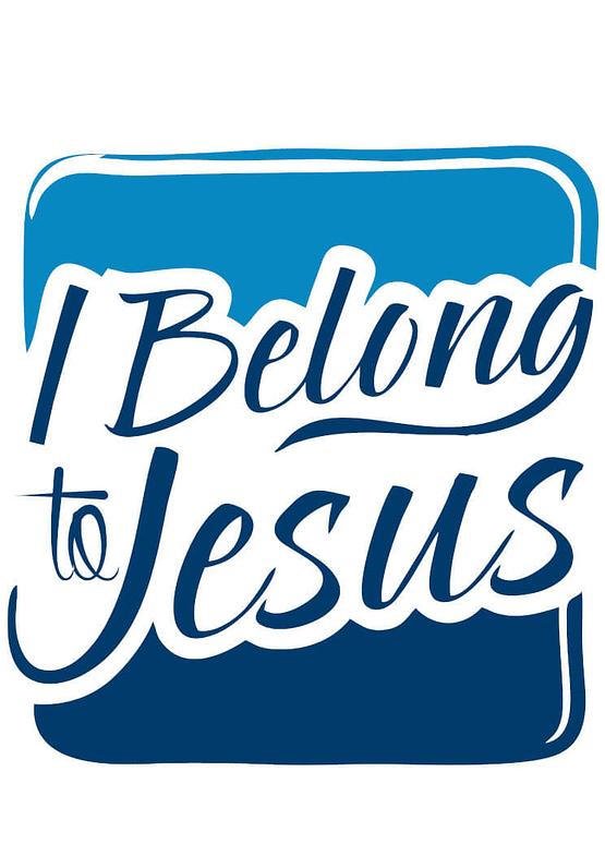 estampa camiseta evangélica I belong to Jesus
