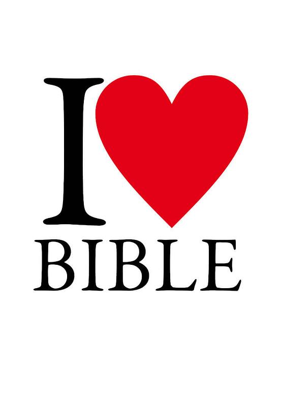 estampa camiseta evangélica I love Bible