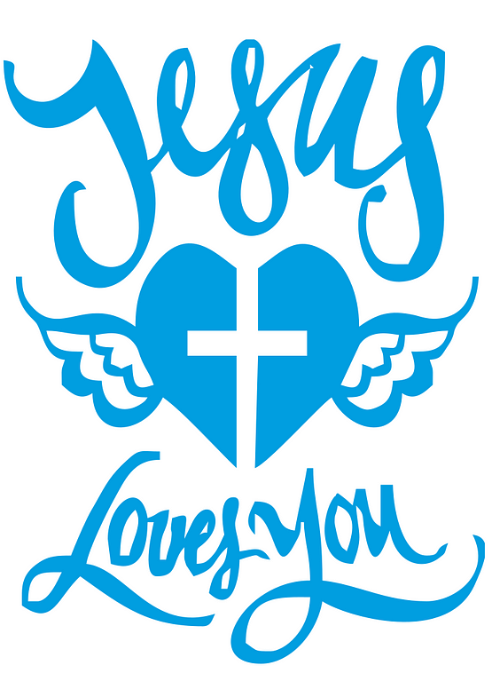 estampa camiseta evangélica Jesus loves you