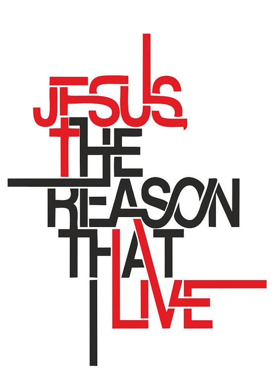 estampa camiseta evangélica Jesus the reason that I live