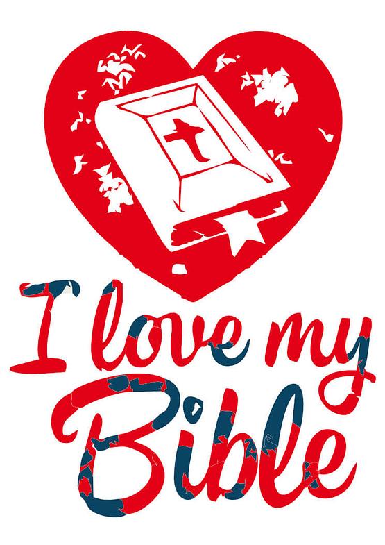 estampa camiseta evangélica I Love my bible